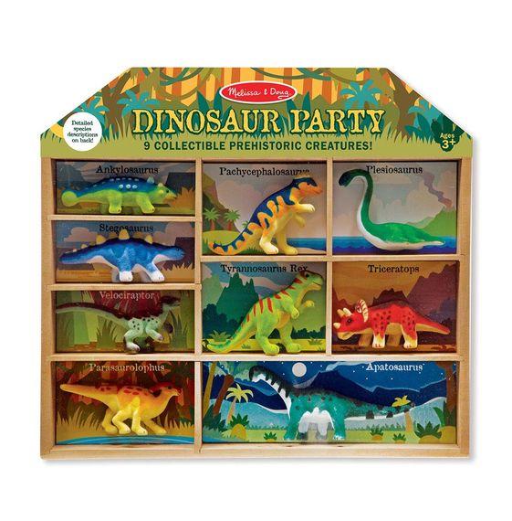 [9ตัว] รุ่น 2666 ไดโนเสาร์กำมะหยี่ 9 ตัว Melissa & Doug Dinosaur Play Set  ขนาด 3-4 นิ้ว รีวิวดีใน Amazon USA อย่างดี เข้าปากไม่อันตราย ของเล่น มาลิซ่า 2 ขวบ