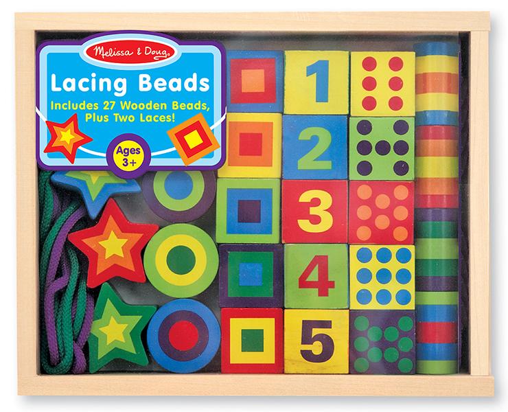 Melissa & Doug รุ่น 3775 Lacing Beads ชุดร้อยเชือกลูกปัด ส่งเสริมการเรียนรู้ด้านสี รูปร่าง จำนวน การต่อ การร้อย