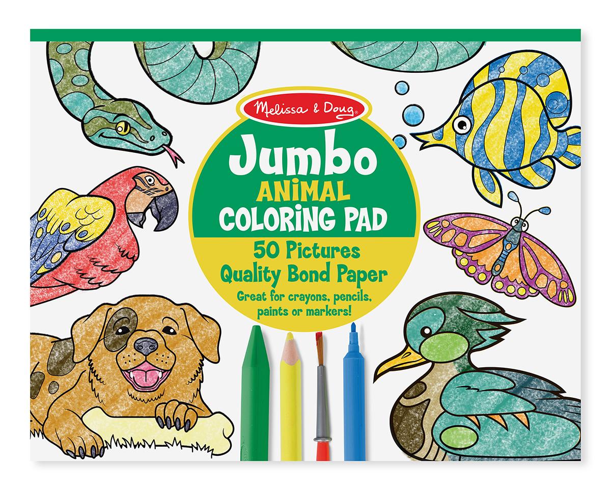 Melissa & Doug รุ่น 4200 Jumbo Coloring Pad - Animals ชุดสมุดระบายสีจั้มโบ้ รุ่นสัตว์ ช่วยส่งเสริมการเรียนรู้ของเด็กที่มีความสนใจการระบายสี