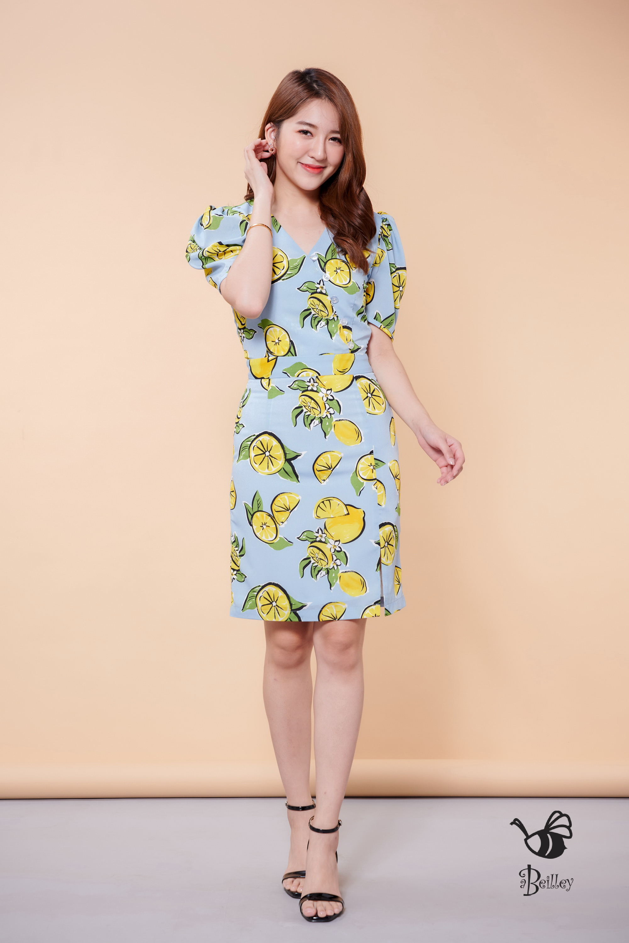 Sweet Blue Lemon Dress