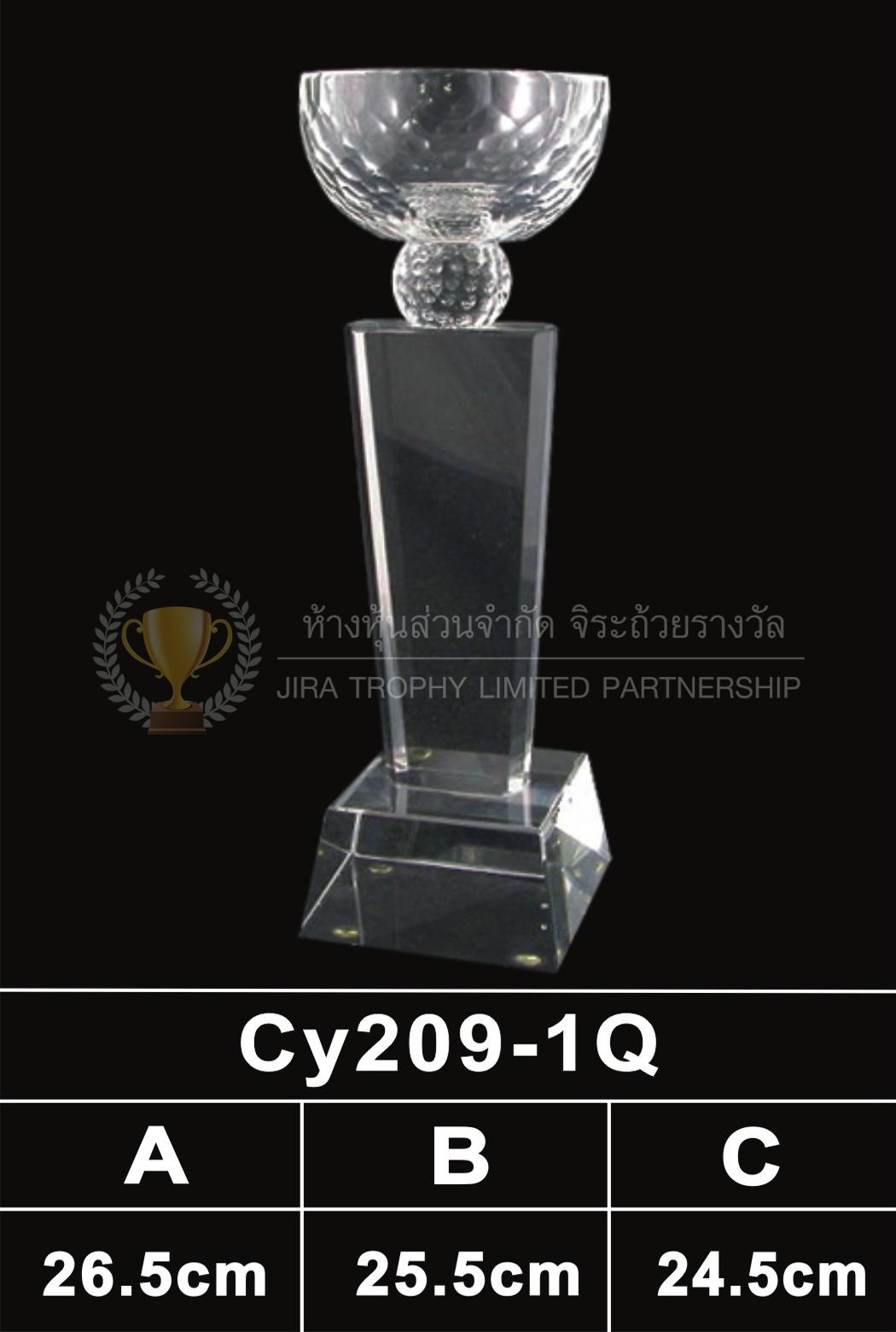 ถ้วยรางวัลคริสตัล CY209-1Q