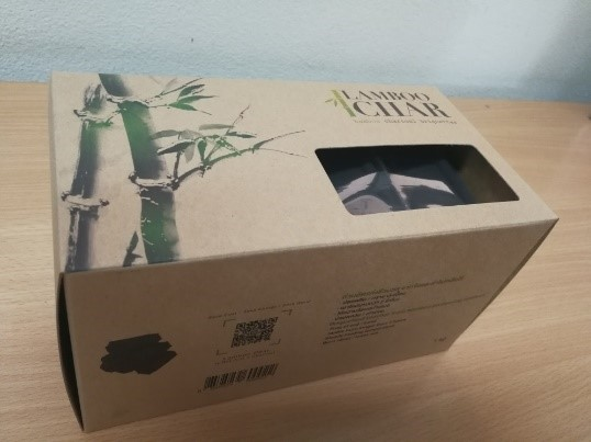 Bamboo Charcoal Briquettes  Box 1 kg.