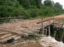 June 2007 – we built bridge and road into Suwannapaitong