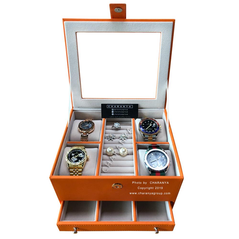 Premium Jewelry Box กล่องใส่เครื่องประดับ นาฬิกา แหวน เกรดพรีเมี่ยม