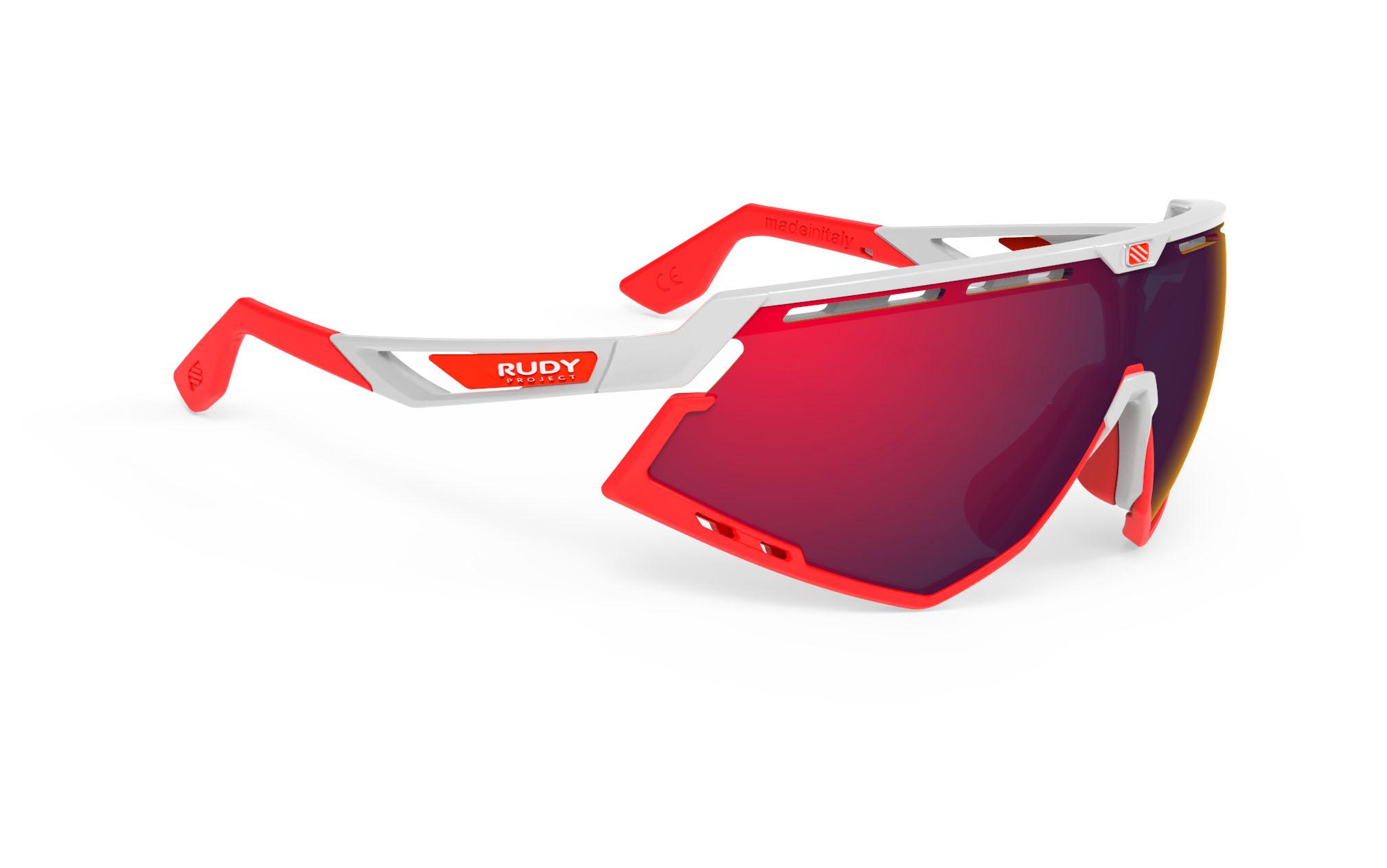 Defender White Gloss - Multilaser Red