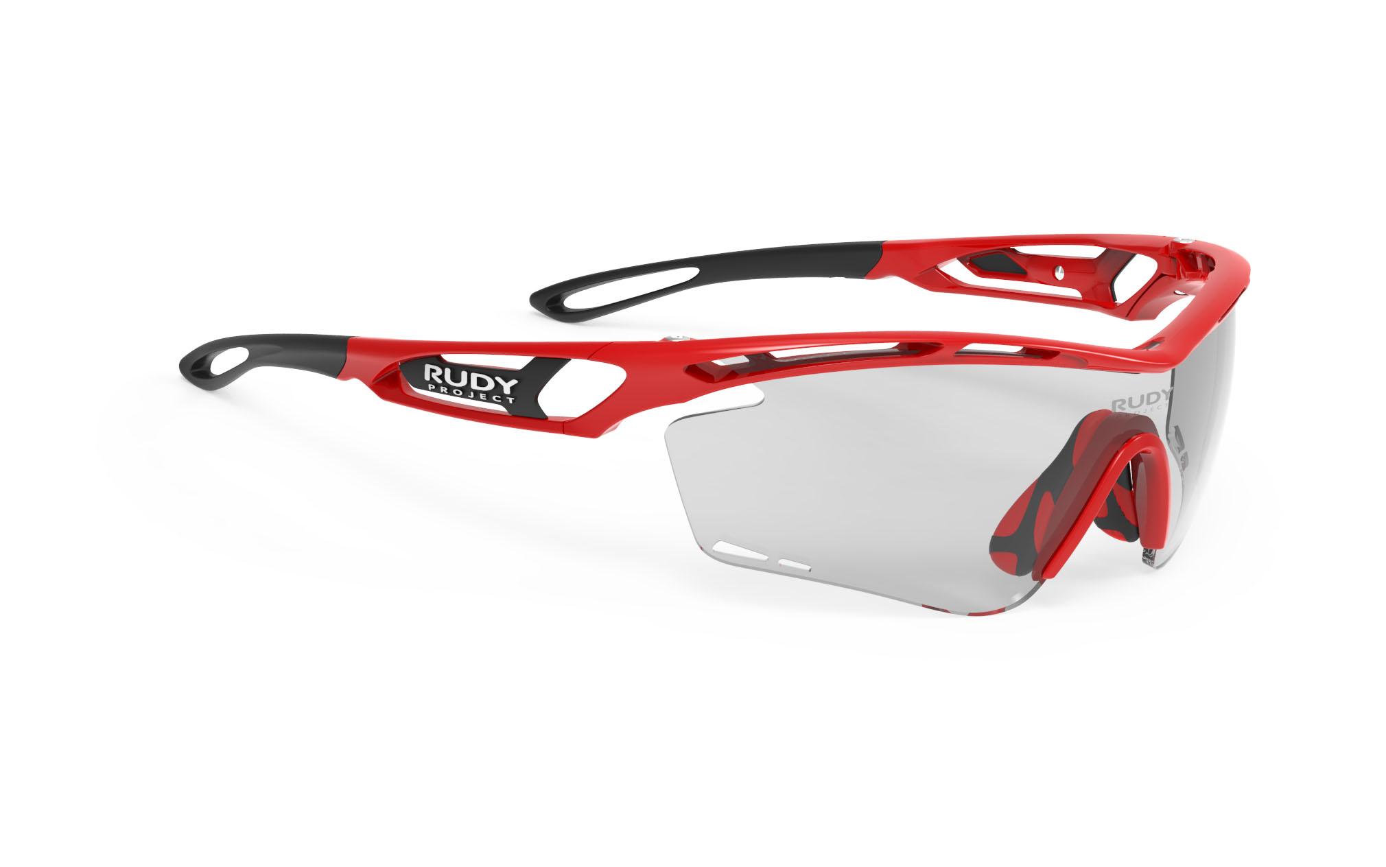 Tralyx Fire Red Gloss - ImpactX Photochromic 2 Black