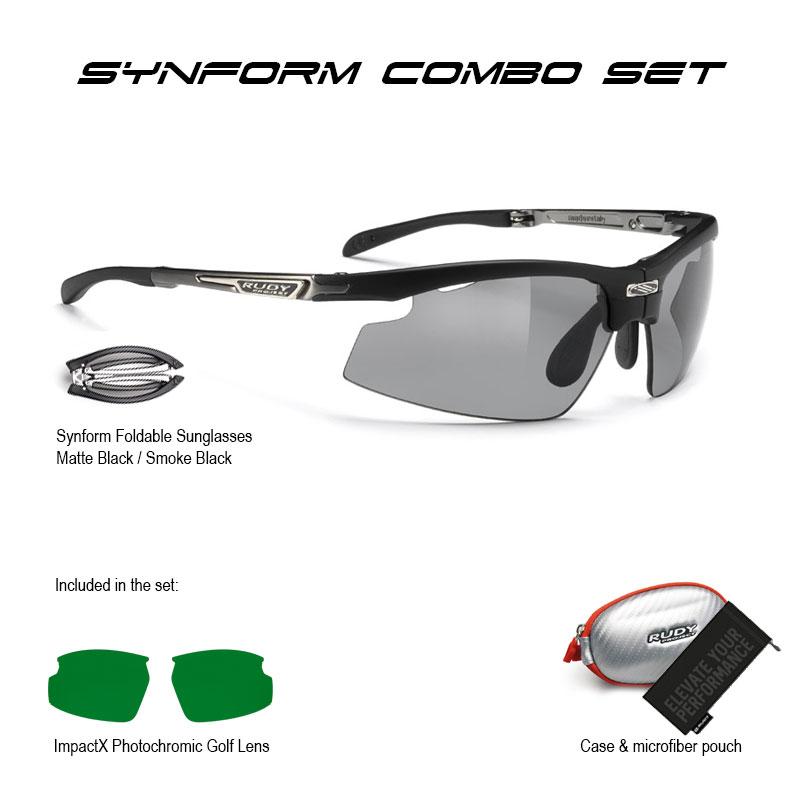 Synform Matte Black Smoke Black + ImpactX Golf Combo Set