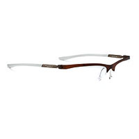 Frame Indyo SUF 04 Frozen Brown / White * ราคาเฉพาะกรอบแว่น ไม่รวมคลิปออนสายตา ( Frame only )
