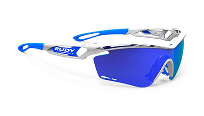Tralyx Olympics Limited Edition White Carbon / 2 lenses ( Multilaser Blue - Transparent)
