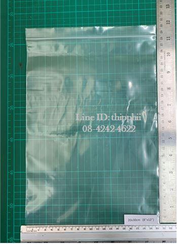 """ถุงซิปล็อคสีใส 20x30 ซม. (8""""x12"""")"""