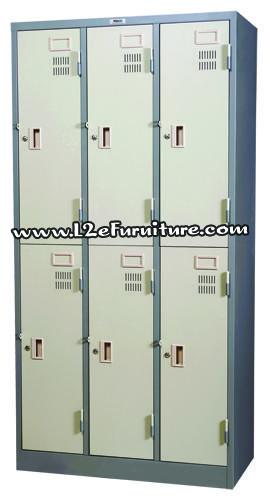 ตู้ล็อคเกอร์ ชนิด 6 ประตู กุญแจอิสระ Welco (เวลโก้)  WLK006