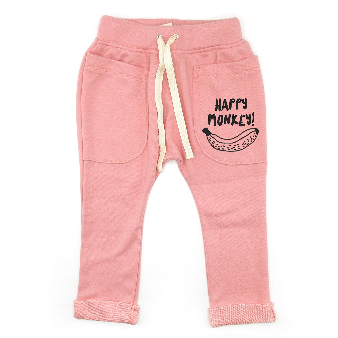 BABY&KIDS LP05130 [D] 0M.-7Y .HAPPY MONKEY ROLL UP SLOUCH PANTS