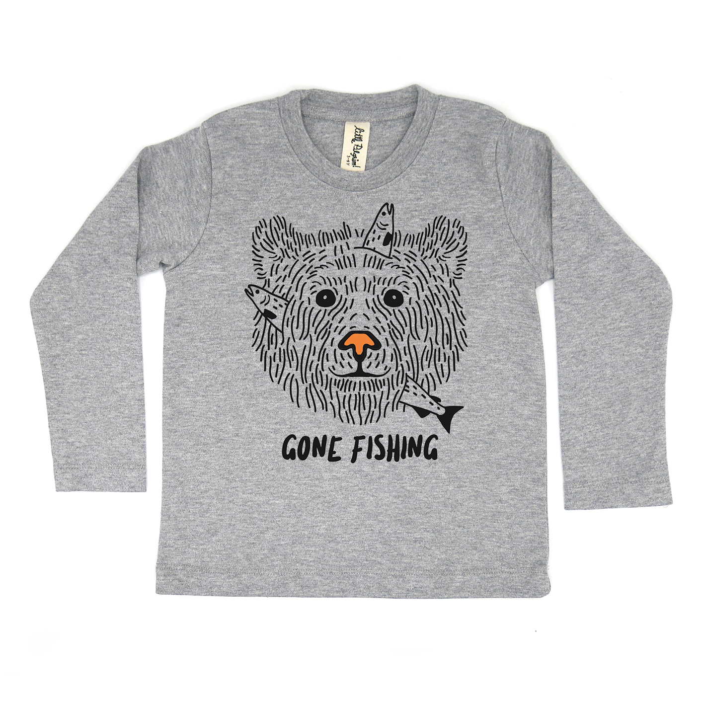BABY/ KIDS / WOMEN / MEN LP03245 GONE FISHING CREW NECK LONG SLEEVE