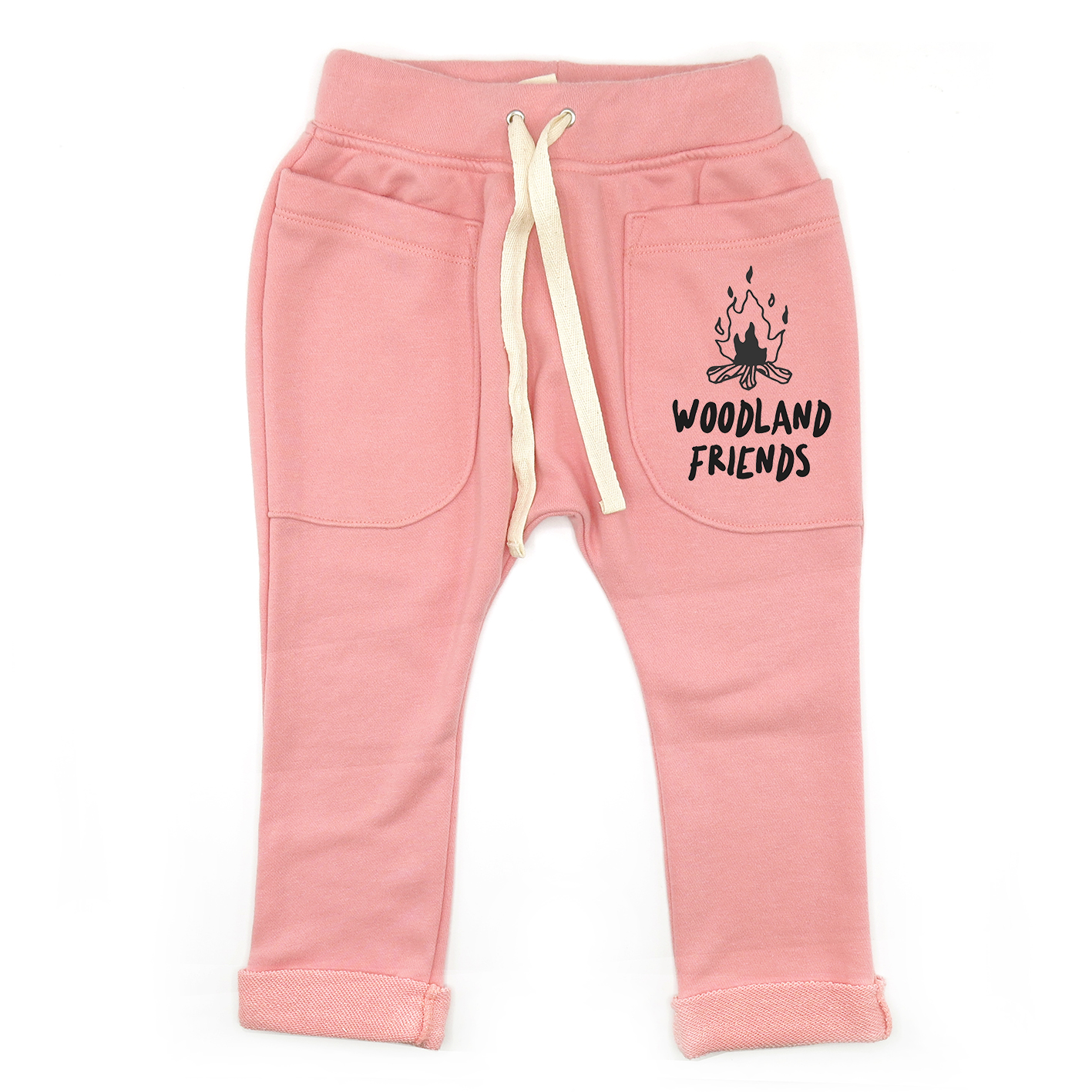 BABY&KIDS LP0504 [D] 0M.-7Y. WOODLAND FRIENDS ROLL UP SLOUCH PANTS