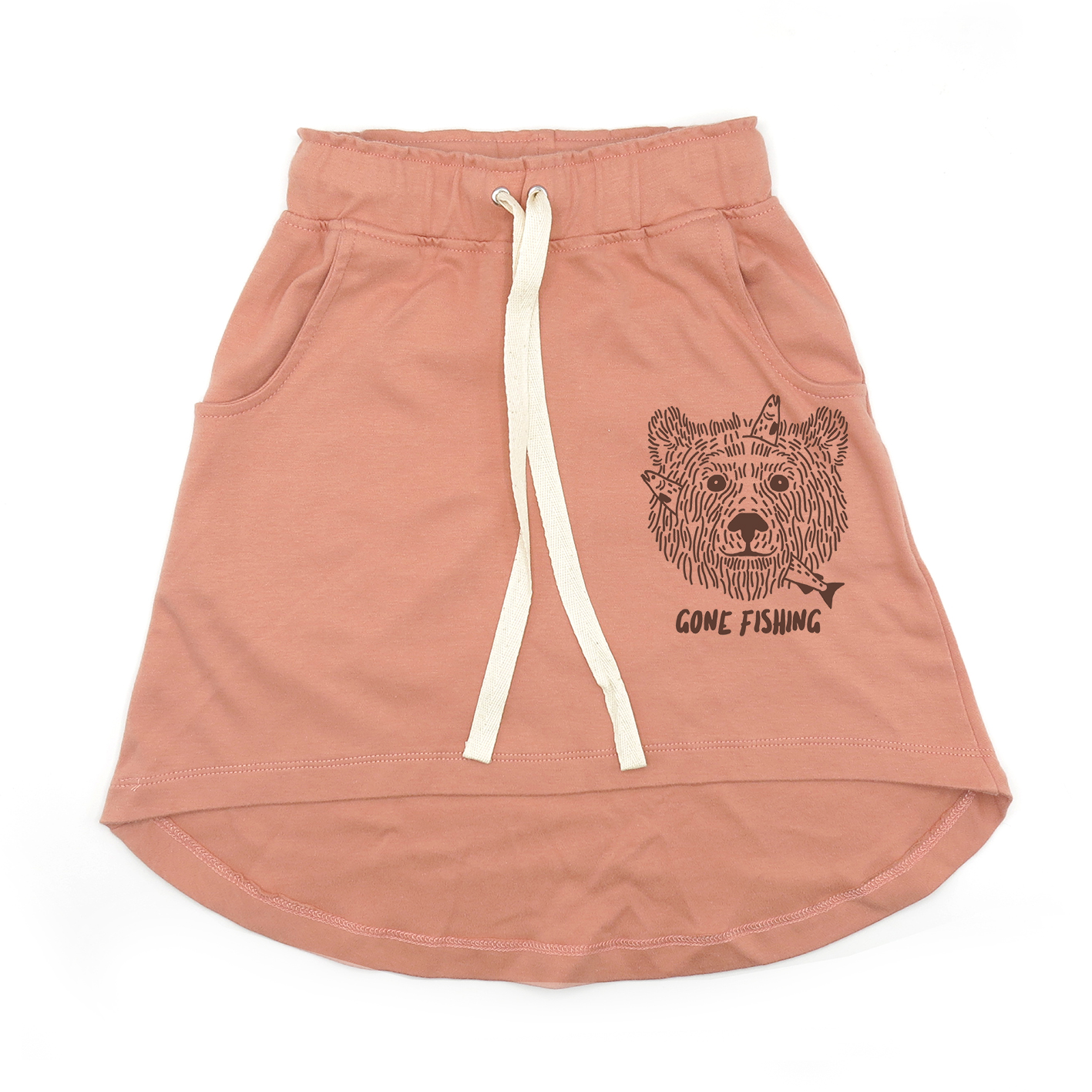 KIDS LP05215 [C] 1-7Y. GONE FISHING KNEE SKIRT