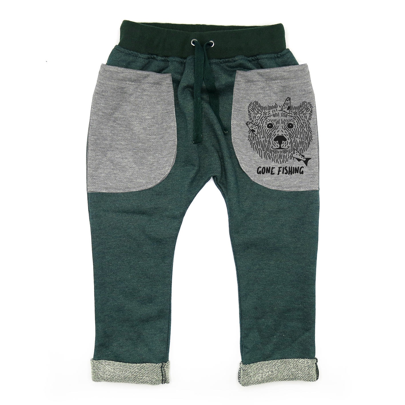 BABY&KIDS LP05208 [D] 0M.-7Y. GONE FISHING ROLL UP SLOUCH PANTS