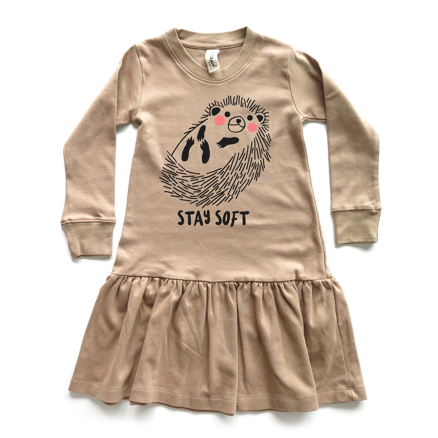 GIRL DRESS 1-7Y. LP0627 STAY SOFT DRESS WITH RUFFLED