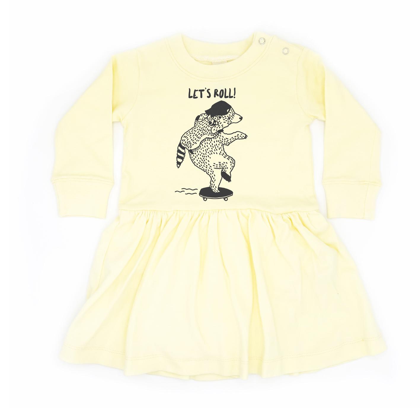 BABY 0-18M [C] LP0157 LET'S ROLL ONESIE SKIRT