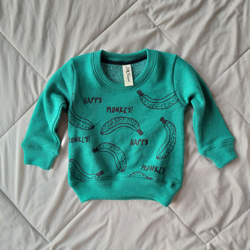 HAPPY MONKEY / 100%COTTON FOREST GREEN LOOP TERRY