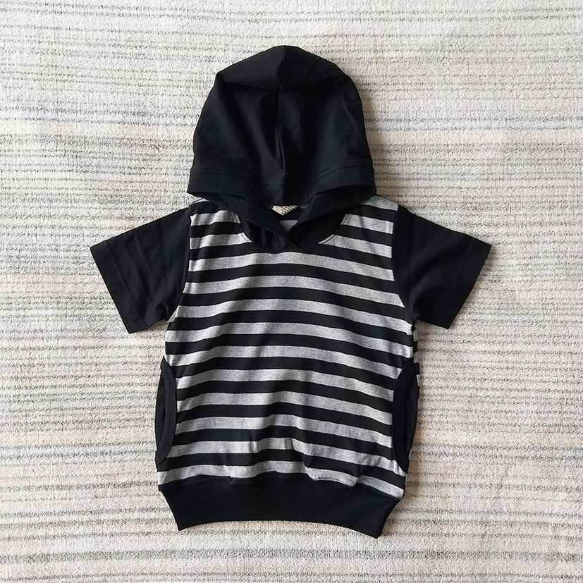 STRIPED HOODIE 100% COTTON