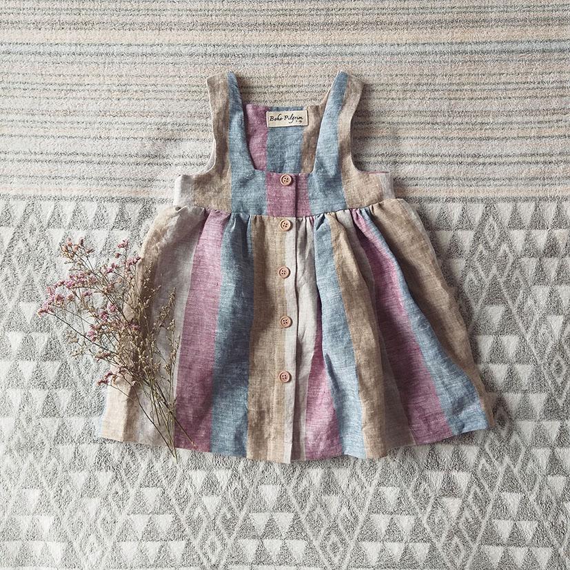 PINAFORE DRESS 100% LINEN