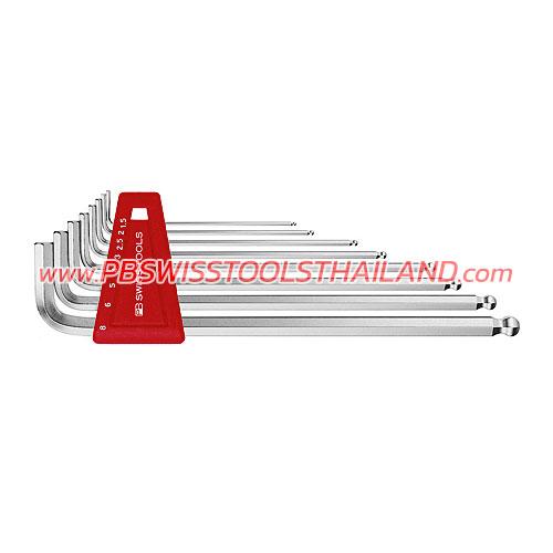 ชุดประแจหกเหลี่ยมหัวบอลยาว PB212LH-6