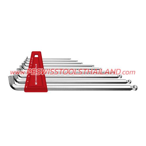 ชุดประแจหกเหลี่ยมยาวหัวบอล คอสั้น PB2212LH