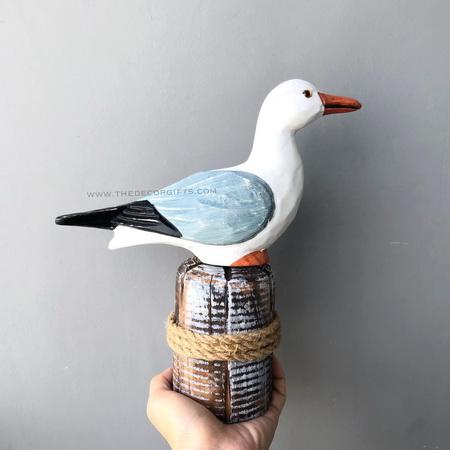 นกนางนวลเกาะท่อนไม้ (Size M) แนวทะเล (มองตรง)