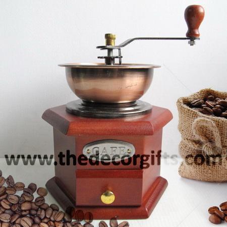 เครื่องบดกาแฟโบราณ ฐานไม้หกเหลี่ยม (เตี้ย) Vol.1 : Vintage Coffee Grinder