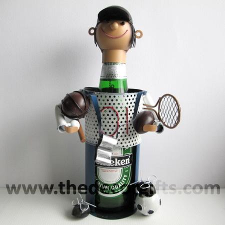หุ่นเหล็ก วางขวดเหล้าเบียร์ Colorful Set (Balls Sports)