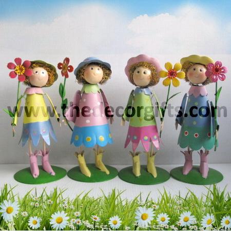 ตุ๊กตาสังกะสี สาวน้อยดอกไม้หวานเย็น (4 ตัว) ขนาดกลาง