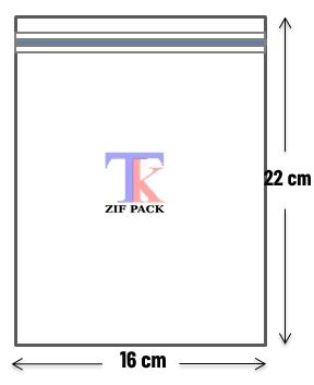 ถุงซิปล็อคสีใส 16x22 ซม.