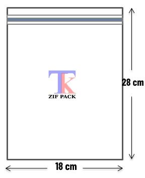 ถุงซิปล็อคสีใส 18x28 ซม.