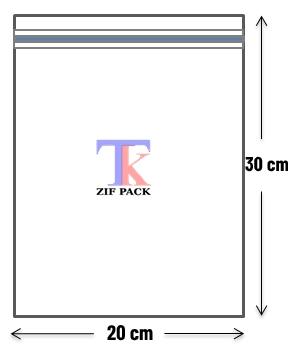 ถุงซิปล็อคสีใส 20x30 ซม.