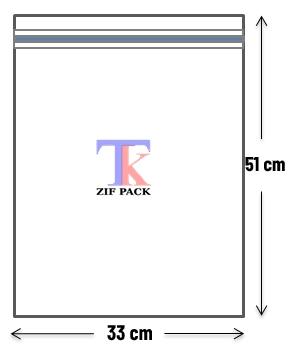 ถุงซิปล็อคสีใส 33x51 ซม.