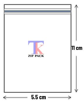 ถุงซิปล็อคสีใส 5.5x11 ซม.