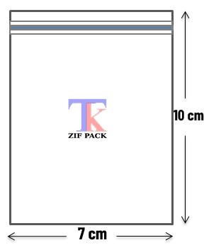 ถุงซิปล็อคสีใส 7x10 ซม.