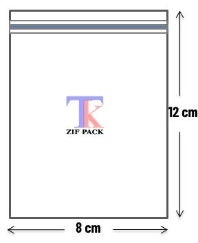 ถุงซิปล็อคสีใส 8x12 ซม.