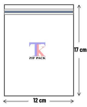 ถุงซิปล็อคสีใส 12x17 ซม.