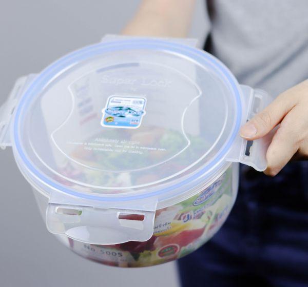 กล่องอาหารกลมSuper Lock ซื้อ1แถม1ความจุ 2500 มิลลิลิตร รุ่น 5005