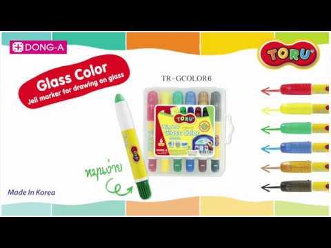 ปากกาเขียนกระจก6สีโทรุดองอา(หมุน)