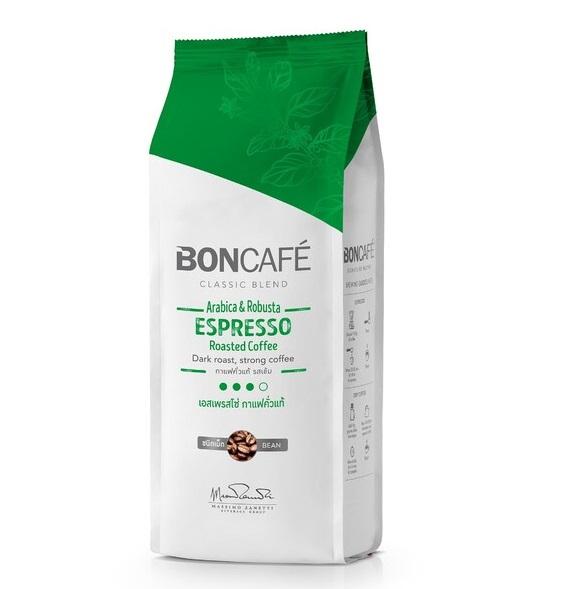 กาแฟคั่วบดชนิดเม็ด บอนกาแฟ เอสเปรสโซ่ 250 ก.
