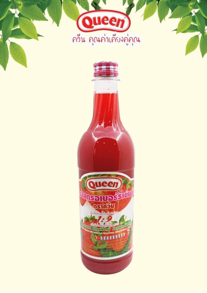 น้ำผลไม้มีเนื้อผลไม้ ควีน สตรอเบอร์รี่ 730 ซีซี