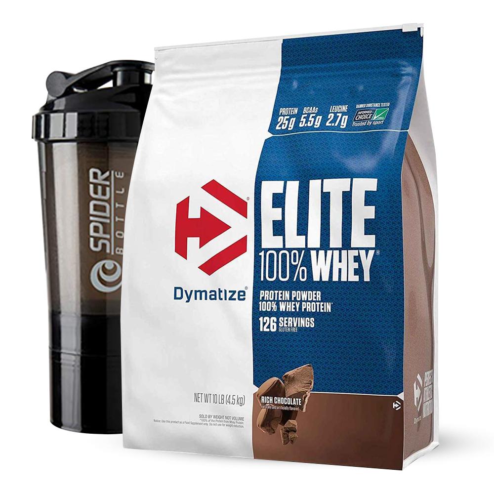 Dymatize Nutrition Elite 100% Whey  - Whey Protein 10 Lbs.