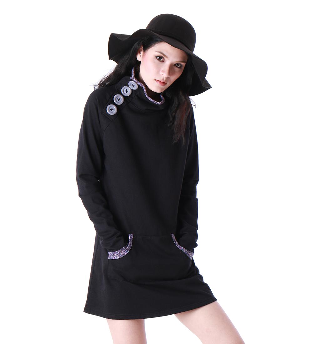 Turlet Neck  Dresses / Winter Dresses / Basic Winter Dress / FREE SHIPPING