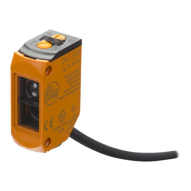 O6E200 , IFM , โฟโต้เซนเซอร์/ ระยะตรวจจับสูงสุด 10 เมตร/  / ราคา แบบตัวรับ-ตัวส่ง (ifm photo sensor)