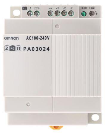 ZENPA03024 , ออมรอน พีแอลซี  / ราคา Omron PLC Power Supply ZEN-PA Series Series ZEN, 100 → 240 V ac, 24V dc, 1.3 A 30W 90 x 70 x 56 mm