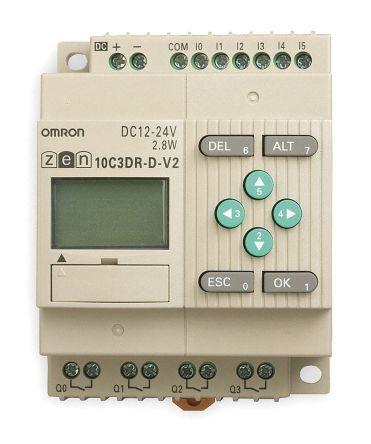 ZEN-10C3DR-D-V2 , ออมรอน พีแอลซี  / ราคา Omron ZEN Logic Module, 10.8 → 28.8 V dc, 6 x Input, 4 x Output With Display