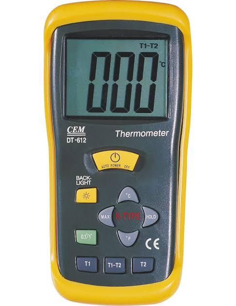 DT-612 / CEM เครื่องวัดอุณหภูมิ THERMOCOUPLE THERMOMETER 2 CHANNELS / ราคา