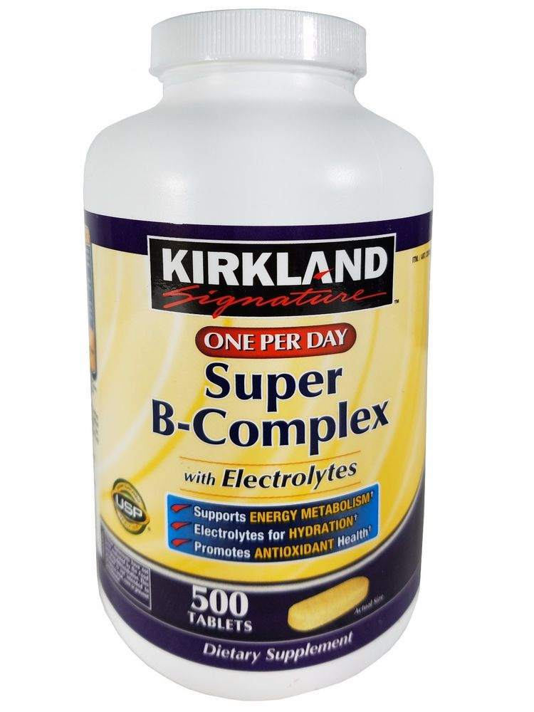 KIRKLAND Signature One Per Day Super B-Complex with Electrolytes 500 TABLETS